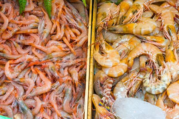 Different kinds of shrimps  Stock photo © elxeneize