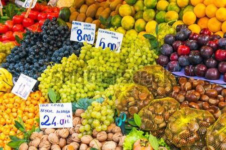 Fruits and vegetables at a market Stock photo © elxeneize