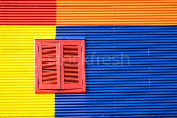 Színes ház LA Buenos Aires részlet épület Stock fotó © elxeneize