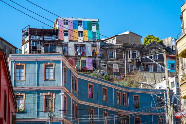 Colorful old houses Stock photo © elxeneize