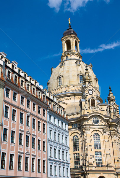 The Frauenkirche in Dresden Stock photo © elxeneize