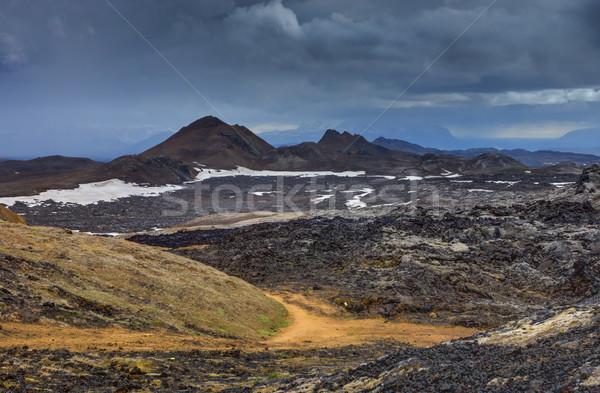 Landscape around Mount Krafla Stock photo © elxeneize