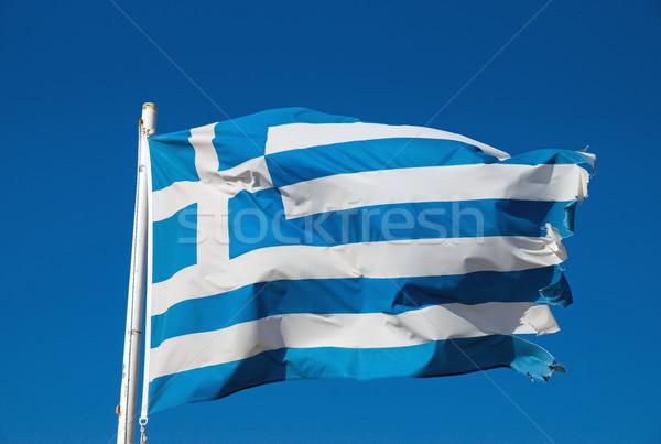 Greek national flag Stock photo © elxeneize