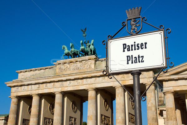 Street sign with Brandenburger Tor Stock photo © elxeneize
