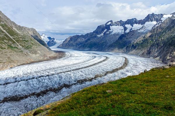 Foto d'archivio: View · ghiacciaio · nubi · natura · montagna · Europa
