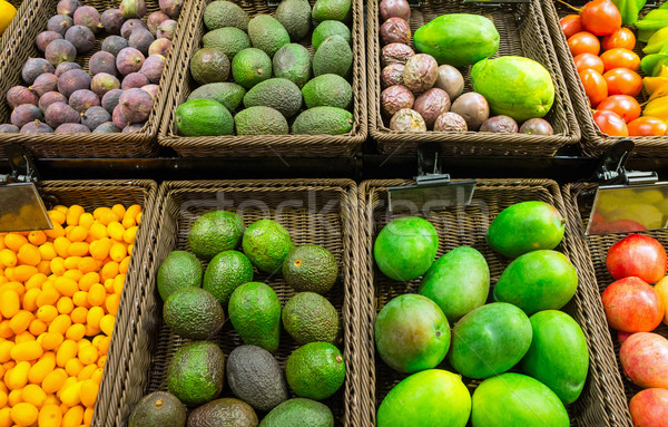 Various fruits on a market Stock photo © elxeneize