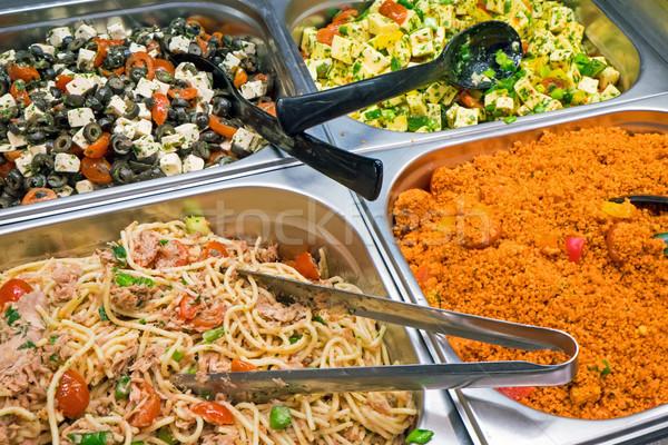 Some different mediterranean salads Stock photo © elxeneize
