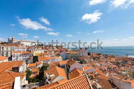 View over Lisbon Stock photo © elxeneize