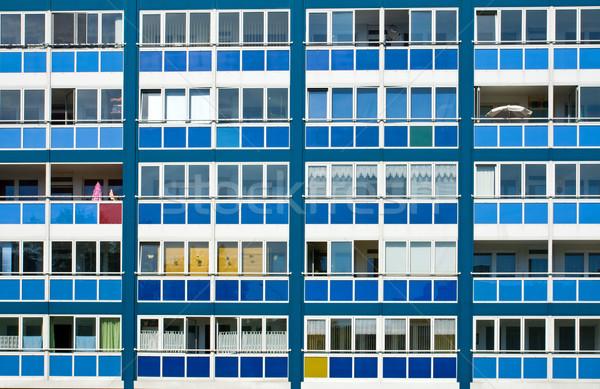 青 アパート ウィンドウ 都市 アーキテクチャ ストックフォト © elxeneize