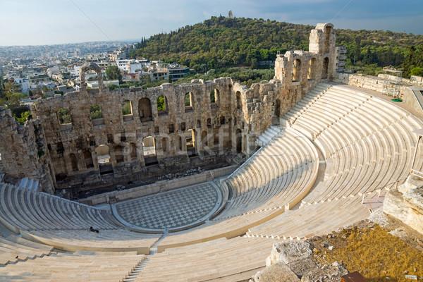 Ancient theatre in Athens Stock photo © elxeneize
