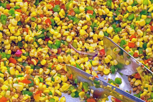 サラダ トウモロコシ パプリカ 唐辛子 食べる ランチ ストックフォト © elxeneize