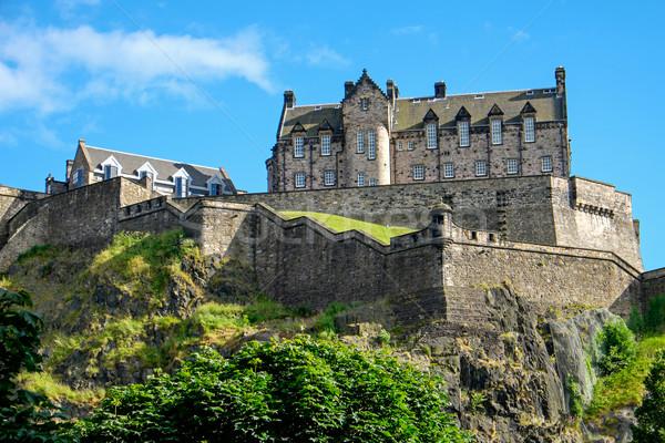 Edinburgh kastély napos idő ház kő történelem Stock fotó © elxeneize