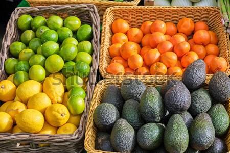 Krumpli paradicsomok több vásár piac étel Stock fotó © elxeneize