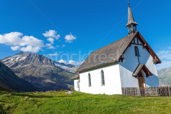 Small church in the alps Stock photo © elxeneize