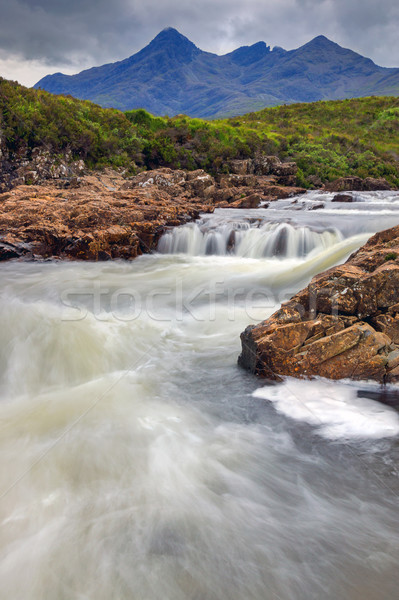 Small stream on the Isle of Skye Stock photo © elxeneize