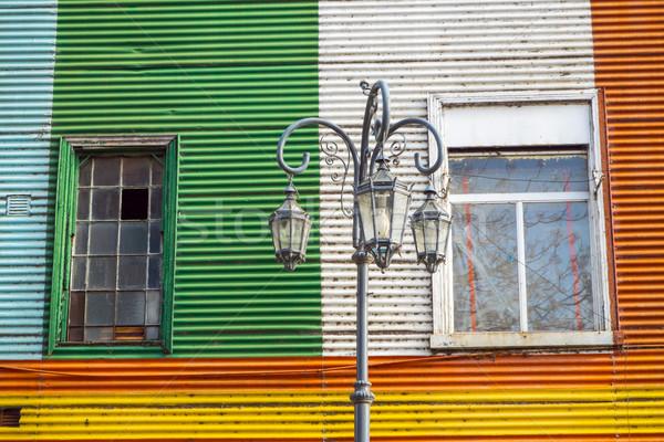 Renkli ünlü bölge Buenos Aires Stok fotoğraf © elxeneize