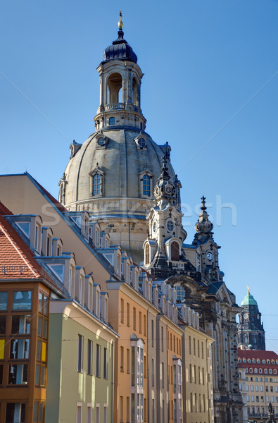 Landmark Frauenkirche in Dresden Stock photo © elxeneize