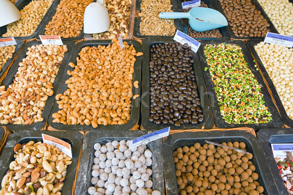 Nuts and cereals Stock photo © elxeneize