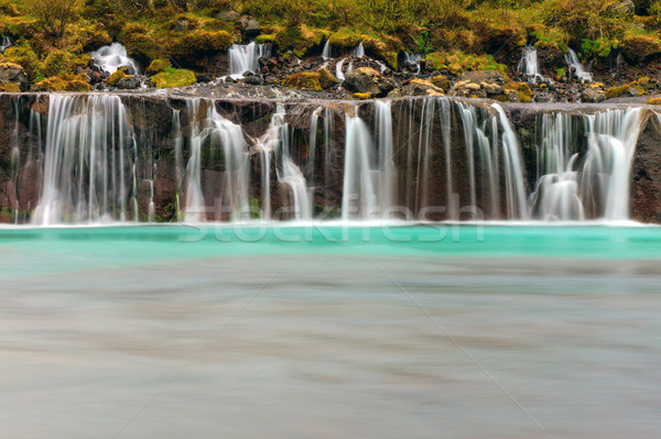 The beautiful Hraunfossar, Iceland Stock photo © elxeneize