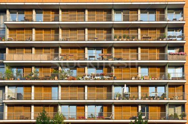 Balconies of a modern building Stock photo © elxeneize