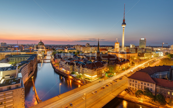 Dawn at the heart of Berlin Stock photo © elxeneize