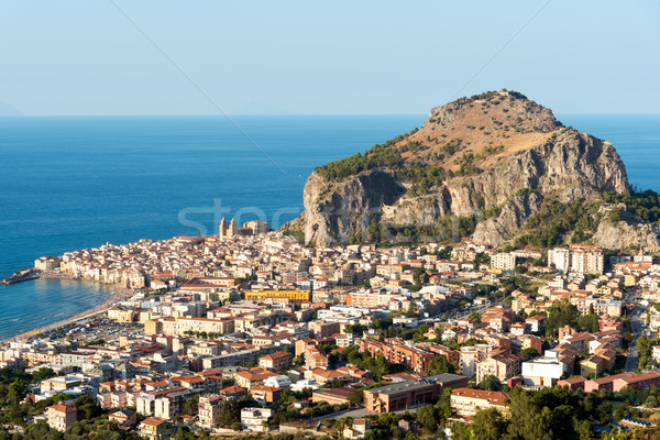The village of Cefalu in Sicily Stock photo © elxeneize