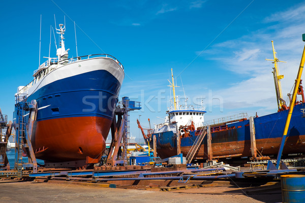 Trawlers at the dry dock  Stock photo © elxeneize