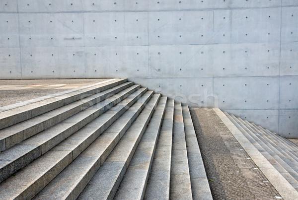 Granit merdiven beton duvar gri inşaat Stok fotoğraf © elxeneize