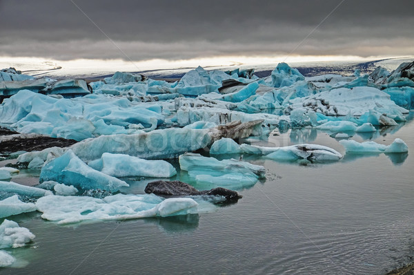 The Jokulsarlon lagoon in Iceland Stock photo © elxeneize