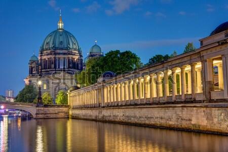 Berlin gece ada şehir kilise Avrupa Stok fotoğraf © elxeneize