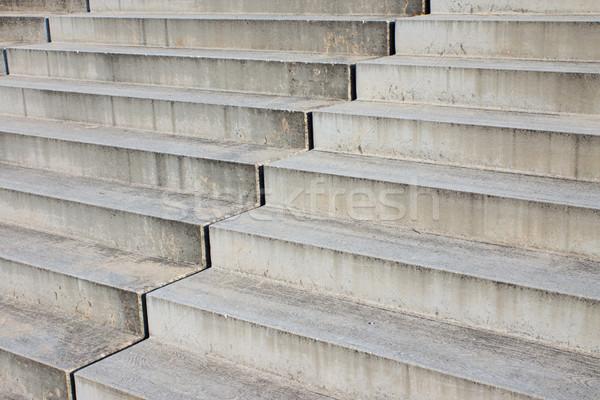 Detail of grey stairs  Stock photo © elxeneize