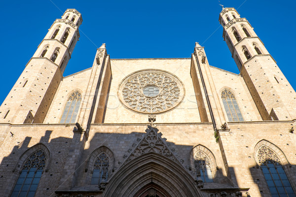 The Santa Maria del Mar church Stock photo © elxeneize