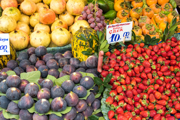 Exotic fruits for sale at a market Stock photo © elxeneize