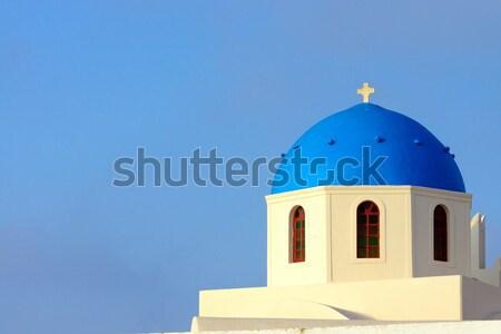 教会 サントリーニ 島 ギリシャ 建物 風景 ストックフォト © elxeneize
