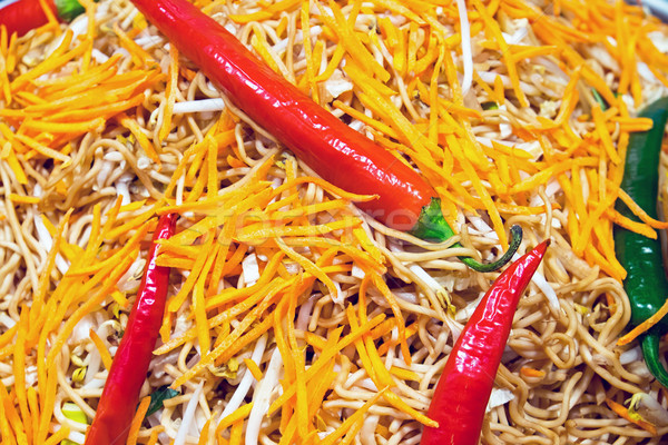 赤 タイ料理 緑 ディナー 中国語 熱帯 ストックフォト © elxeneize