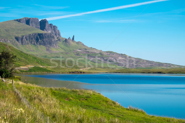 The Old Man of Storr in the distance Stock photo © elxeneize