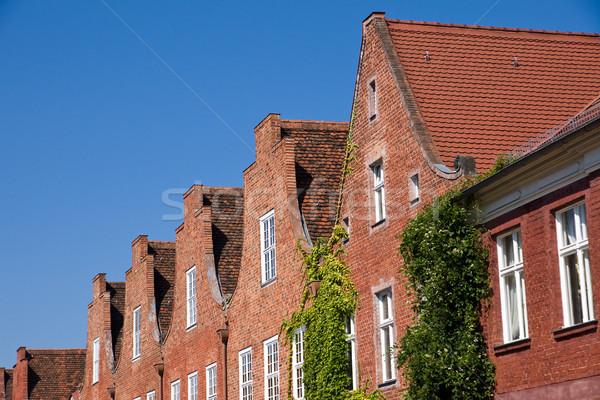 голландский квартал Берлин Германия дома здании Сток-фото © elxeneize