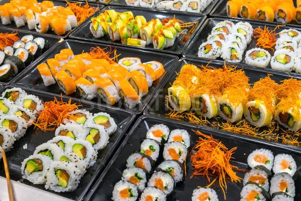 разнообразие суши буфет продовольствие Сток-фото © elxeneize