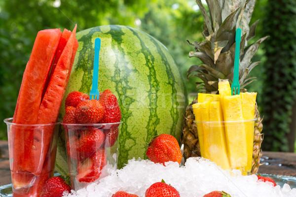 Refreshing fruit cocktail Stock photo © elxeneize