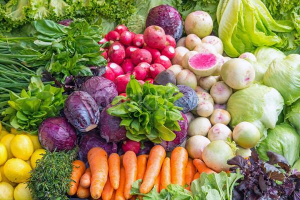 Fresh vegetables at a market Stock photo © elxeneize