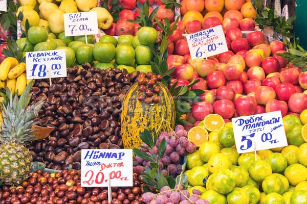 Fresh fruits for sale at a market Stock photo © elxeneize