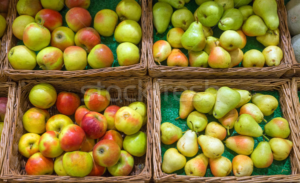 Pears and apples Stock photo © elxeneize