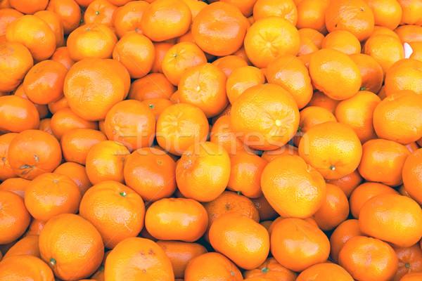 Pile of clementines Stock photo © elxeneize