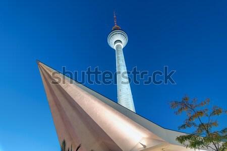 テレビ 塔 ベルリン 有名な アレクサンダー広場 ドイツ ストックフォト © elxeneize