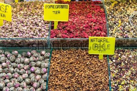 Spice рынке Стамбуле различный продажи Турция Сток-фото © elxeneize