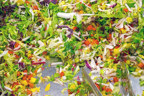 Insalata buffet verde ingredienti mais Foto d'archivio © elxeneize