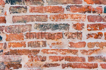 Old red brickwall Stock photo © elxeneize