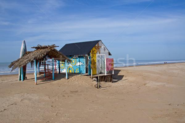 Cabana with a surfboard Stock photo © elxeneize
