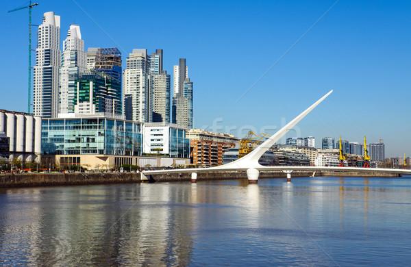 Buenos Aires modern kerület Argentína víz város Stock fotó © elxeneize