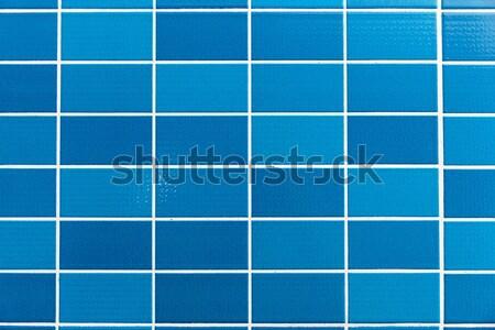 Kék csempézett kicsi csempék terv üveg Stock fotó © elxeneize